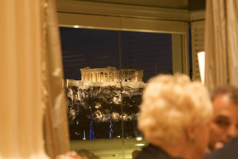 Arcopolis from Tudor Hall dining room at King George Palace Hotel