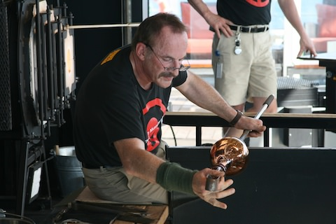 On Celebrity Solstice, artisans from Corning Glass provide a look at glass-blowing, with demonstrations and some opportunities to participate.