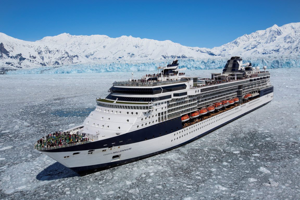 Celebrity Millennium in Alaska's Hubbard Glacier. Photo courtesy of Celebrity Cruises