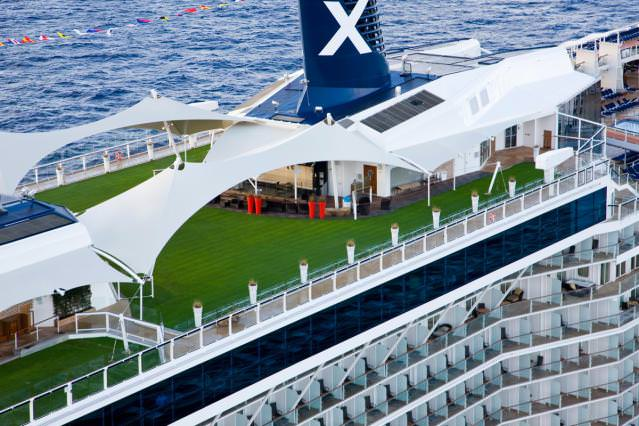 A real lawn at sea? Celebrity figured out how to make it happen. Photo courtesy of Celebrity Cruises.