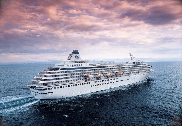 Crystal Symphony at sea. Photo courtesy of Crystal Cruises