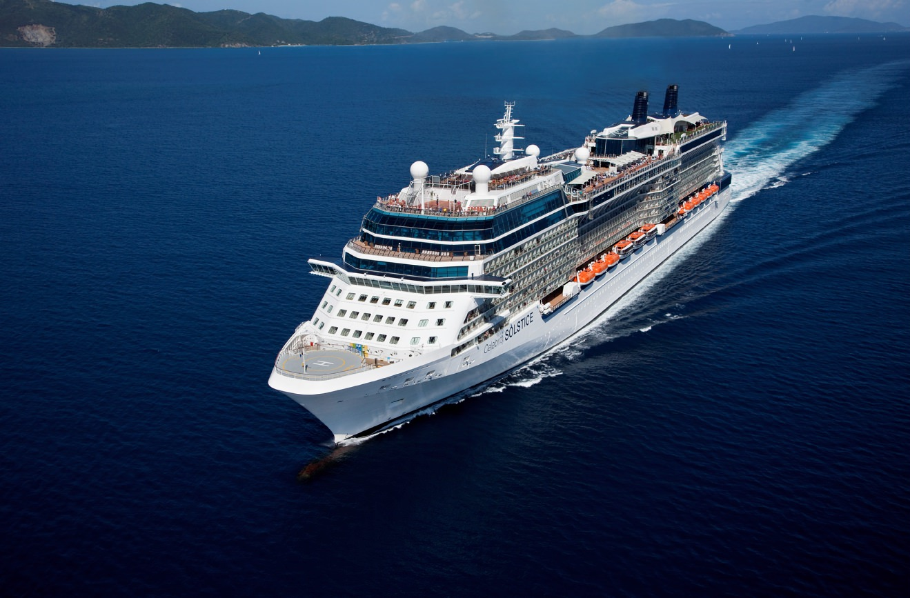 Celebrity Solstice cruising the Caribbean in the Virgin Islands. Photo courtesy of Celebrity Cruises