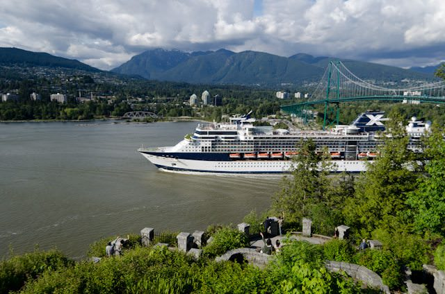 Celebrity Millennium departing Vancouver, British Columbia, on her way north to Alaska. Photo © Aaron Saunders