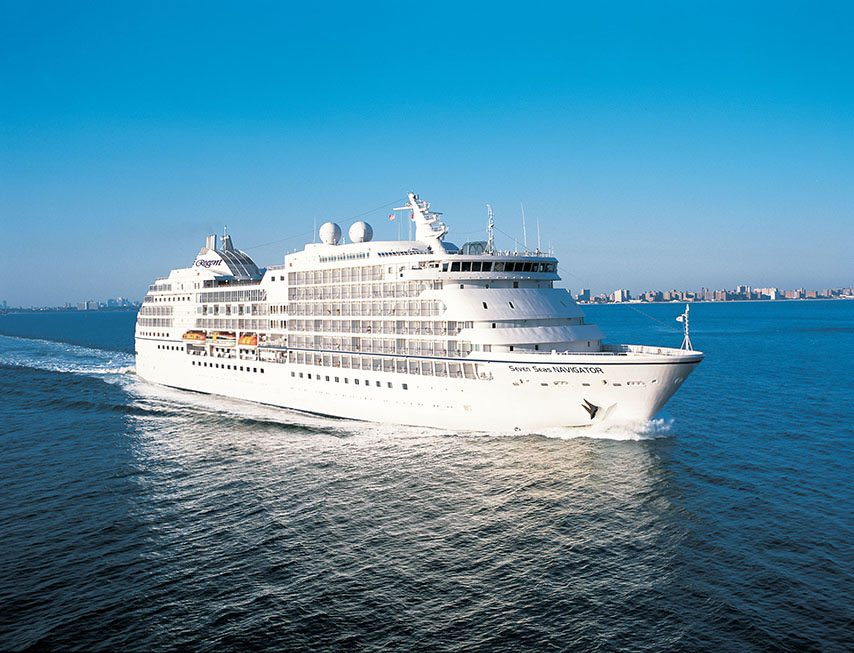 Regent's Seven Seas Navigator carries just 490 guests. Photo courtesy of Regent Seven Seas Cruises.