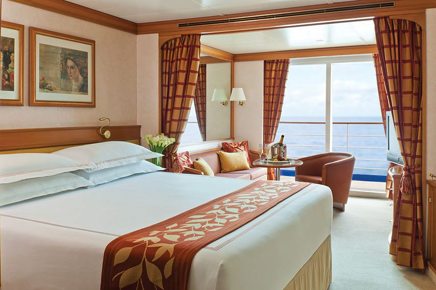 Deluxe Veranda Suites aboard Regent's Seven Seas Navigator clock in at 356 square feet. Photo courtesy of Regent Seven Seas Cruises.