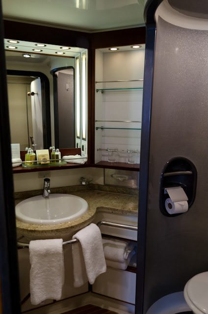 Bathrooms are surprisingly spacious and functional. Photo © 2013 Aaron Saunders