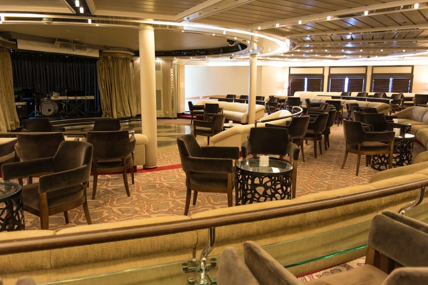 The Show Lounge on Deck 5. Photo © 2016 Aaron Saunders
