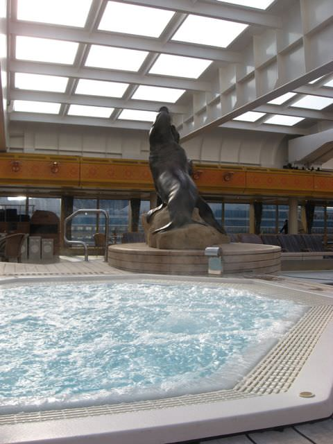 Relaxation Station Pool Lounge: Holland America Line Rotterdam Ship Review