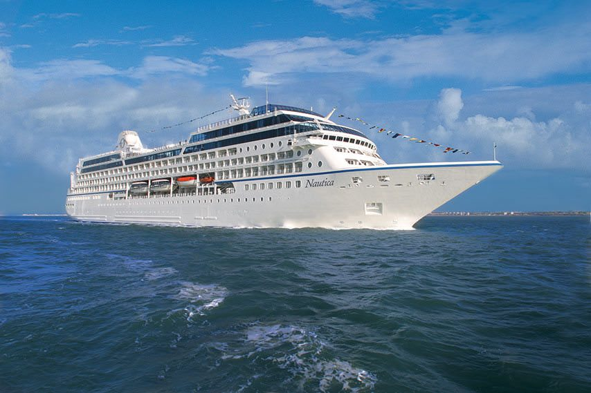 Nautica, shown here at sea, is one of Oceania Cruises most intimate vessels. Photo courtesy of Oceania Cruises.