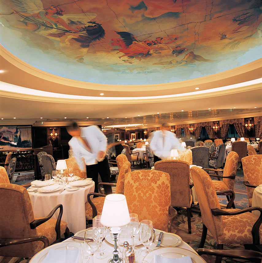 Dining aboard Oceania's Nautica is a real event, with one of the most attractive yet understated dining venues at sea. Photo courtesy of Oceania Cruises.