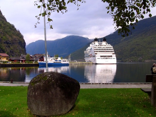 Seabourn Sojourn in Flam, Norway
