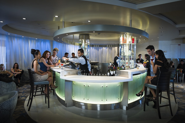 The new Martini Bar aboard Celebrity Constellation. Photo courtesy of Celebrity Cruises