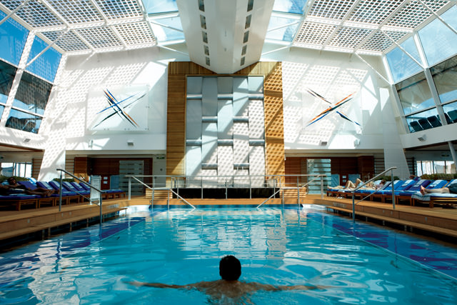 The inviting pool area aboard Celebrity's Solstice-class ships. Photo courtesy of Celebrity Cruises