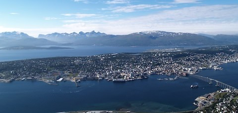Tromoso, Norway is a favorite port for voyages heading north of the Arctic Circle.