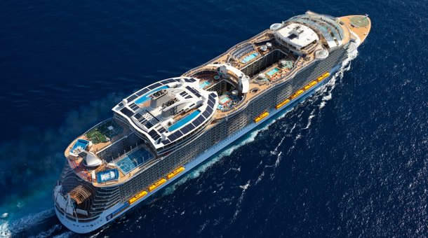From up above, Oasis of the Seas