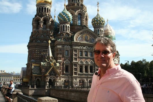 Journalist Ralph Grizzle in St. Petersburg, Russia