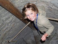 Climbing The Stairs at St. Olav's Church