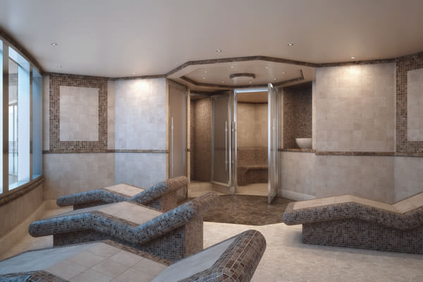 Silver Spirit's Spa will debut the ceramic-tiled Thermal Suite, an exclusive spa area furnished with heated lounge chairs.