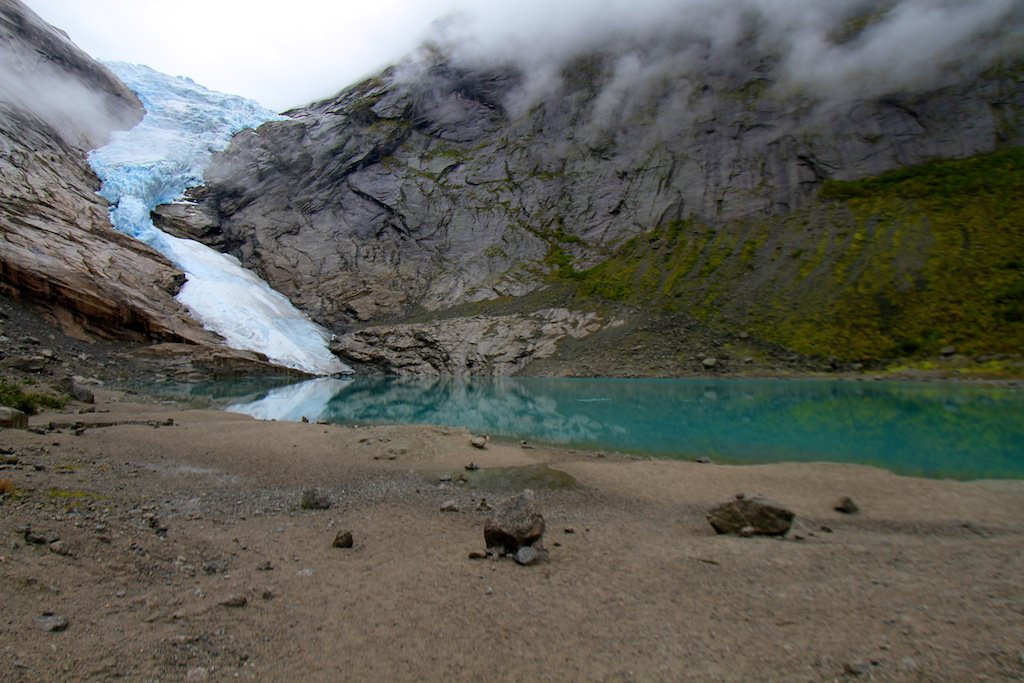 The Briksdalbreen Glacier is one of the more popular excursions offered from Olden, Norway.