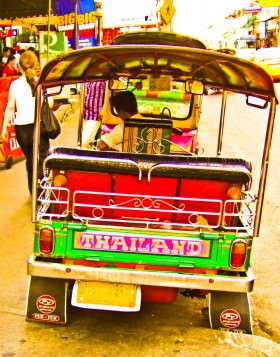 A traditional tuk-tuk in Bangkok