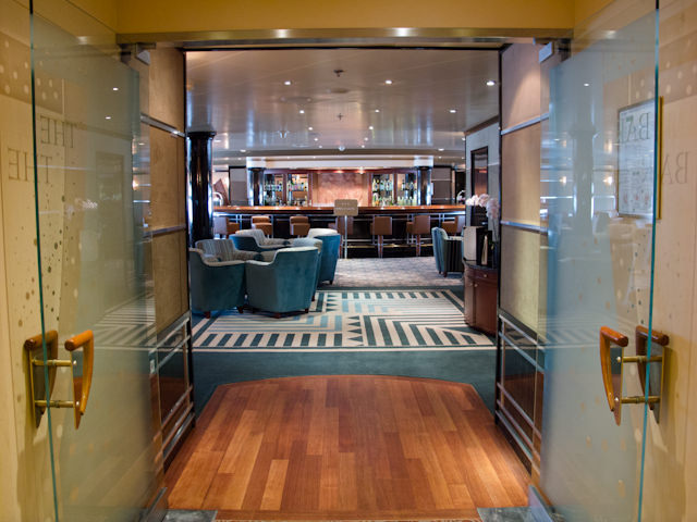 The Bar received a complete makeover during Silver Shadow's recent drydock. Photo © 2011 Aaron Saunders