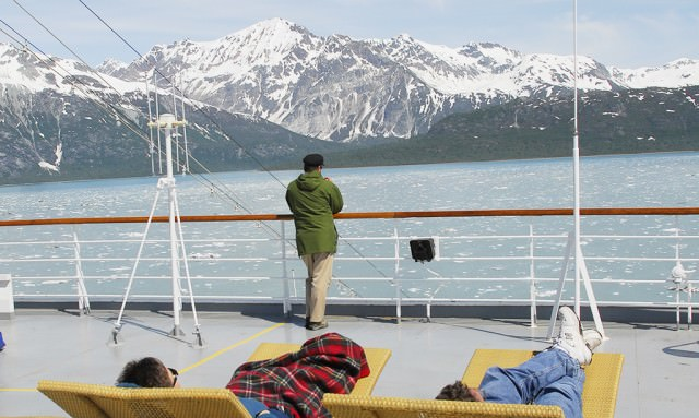 A view of Alaska from deck of Veendam