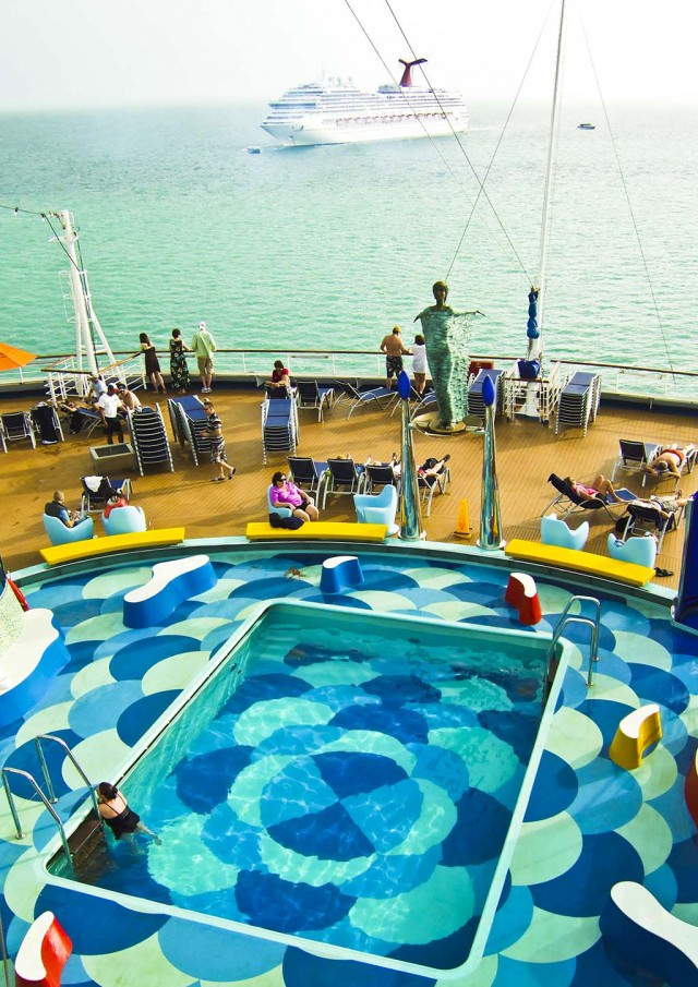 The rear Lido deck on Carnival Dream