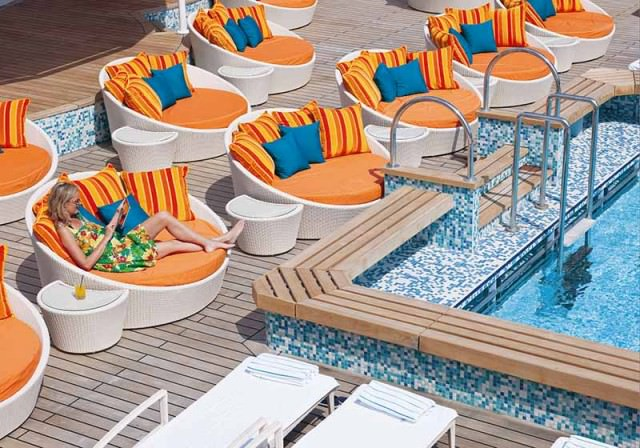 New color scheme for deck furniture on Crystal Serenity