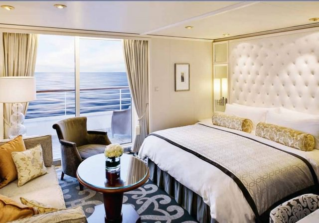 A stateroom on Crystal Serenity