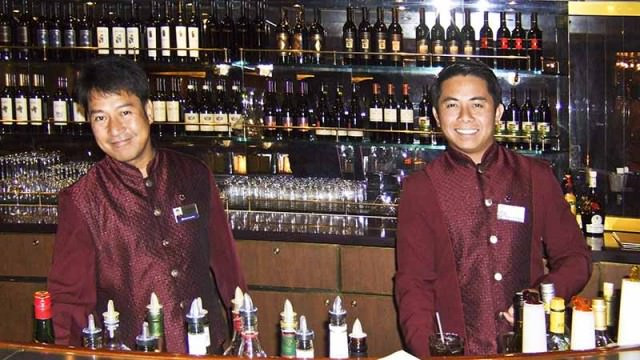 Bartenders on Holland America's Noordam
