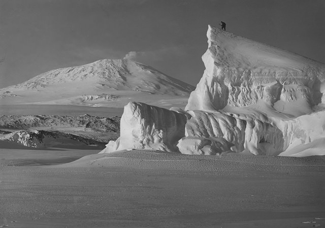 Antarctica captivated mankind for years, as this dramatic 1911 photograph illustrates. Photo courtesy of Adrian Raeside