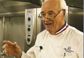 Chef Andre Soltner in Crystal Cruises galley