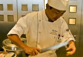 Sushi chef on Crystal Serenity