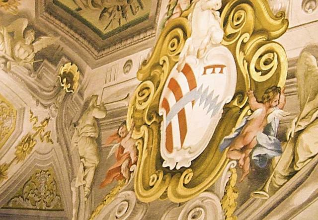 Fresco work on ceiling of Palazzo Corsini in Florence
