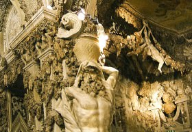 Detail of grotto in palazzo Corsini in Florence