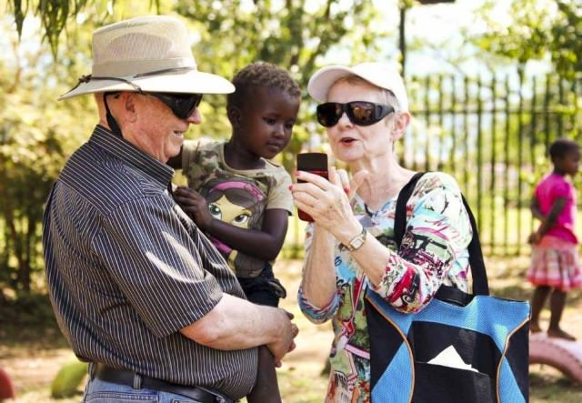 Voluntourism participants in Africa