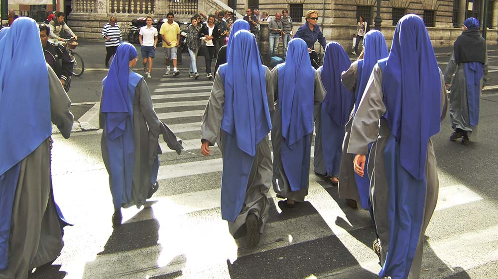 Nuns on the street in Rome