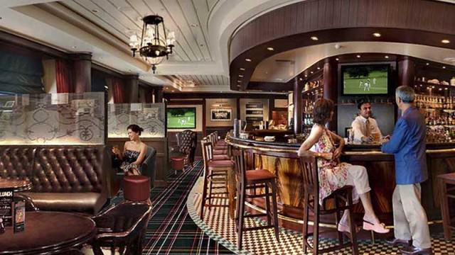 Golden Lion pub on Queen Mary 2