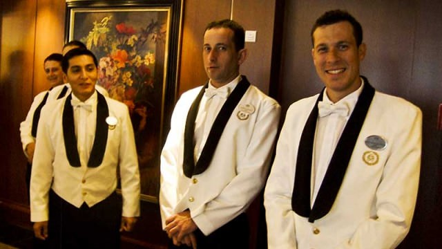 Waiters on Crystal Serenity