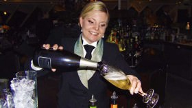 Champagne pours freely on Crystal serenity