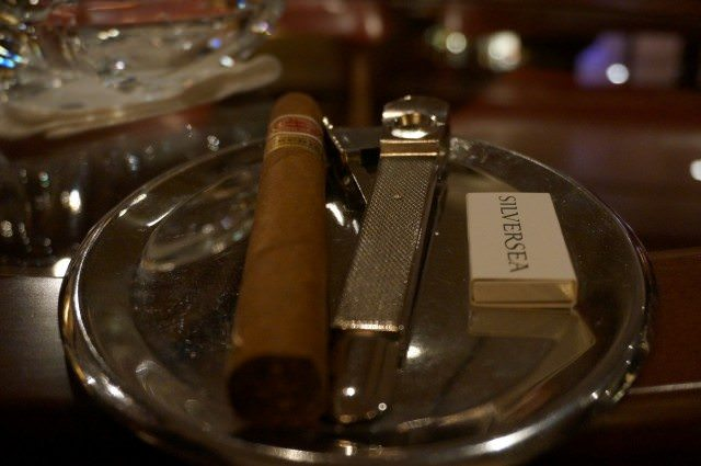 A great way to end the evening: fine cognacs and other spirits coupled with quality cigars. © 2013 Ralph Grizzle