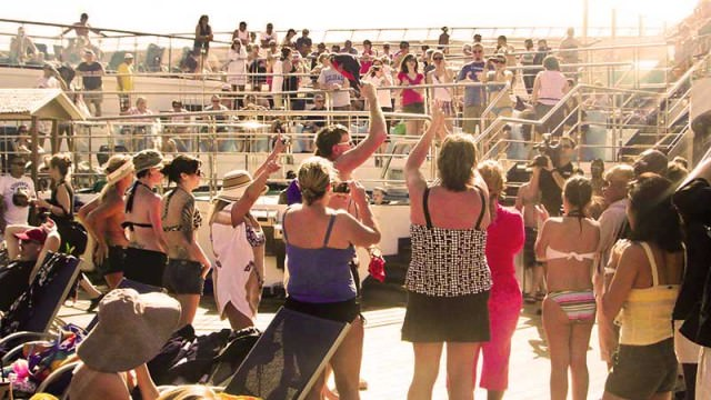 Deck party on Carnival Liberty