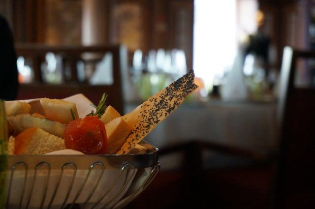 Celebrating Silversea's Italian heritage in La Terrazza. The food looks almost too good to eat. © 2013 Ralph Grizzle