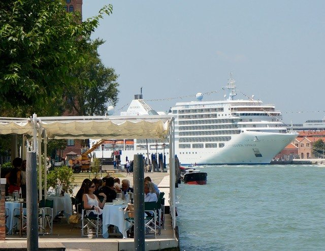 Silver Spirit docked in Venice. © 2013 Ralph Grizzle