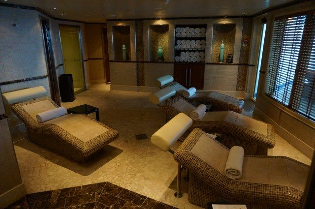 I enjoyed some relaxation time in the largest spa in Silversea's fleet. © 2013 Ralph Grizzle