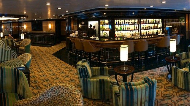 The Bar: A popular watering hole on Silver Spirit. © 2013 Ralph Grizzle