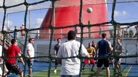 sports on deck of Carnival Liberty