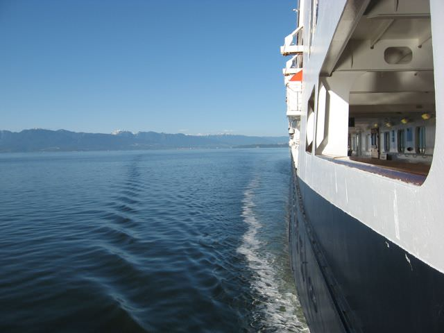 Departing Vancouver aboard the Rotterdam, bound for the Inside Passage. Photo © Aaron Saunders