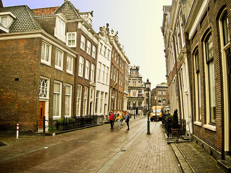 An old street in Hoorn, The Netherlands