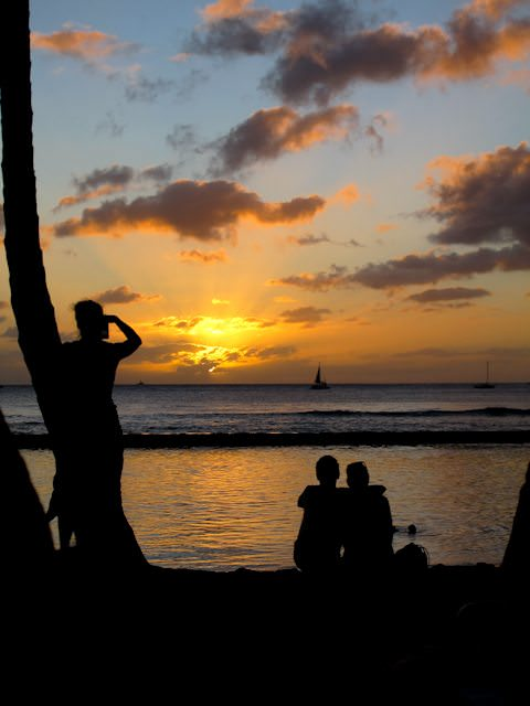 There's nothing quite like sunsets in Hawaii. Photo © 2011 Aaron Saunders